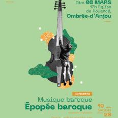 Affiche CRAAB Concert N°2 Épopée baroque