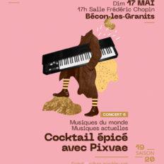 Affiche CRAAB Concert N°6 Cocktail épicé avec Pixvae